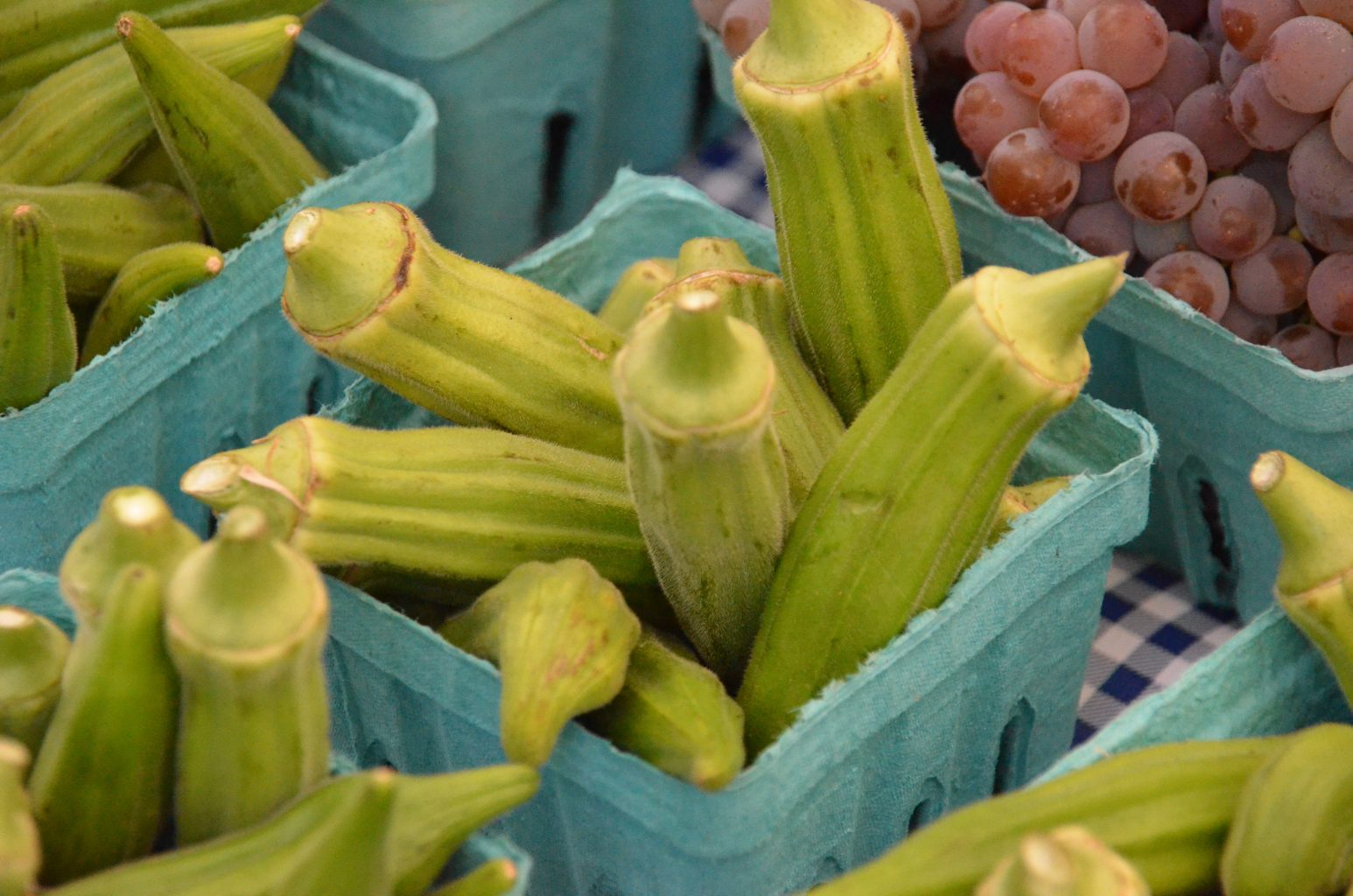 Okra at a farmers market