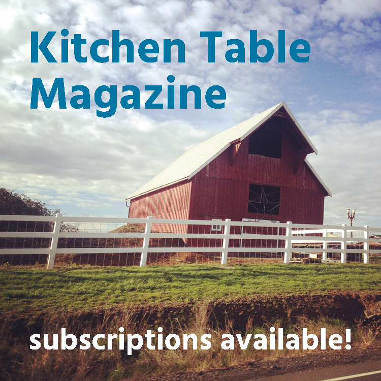 Kitchen Table Magazine subscriptions